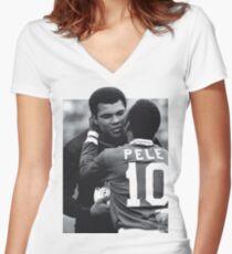 Pele, Muhammad Ali Women's Fitted V-Neck T-Shirt