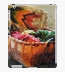 Basket of Yarn and Tapestry iPad Case/Skin