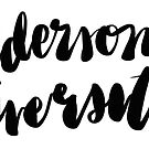 Anderson University Cursive by jenecaz
