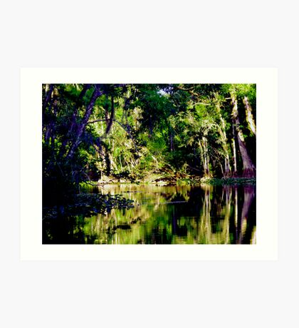 Up The Lazy River Art Print