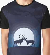 Stag and Doe Graphic T-Shirt