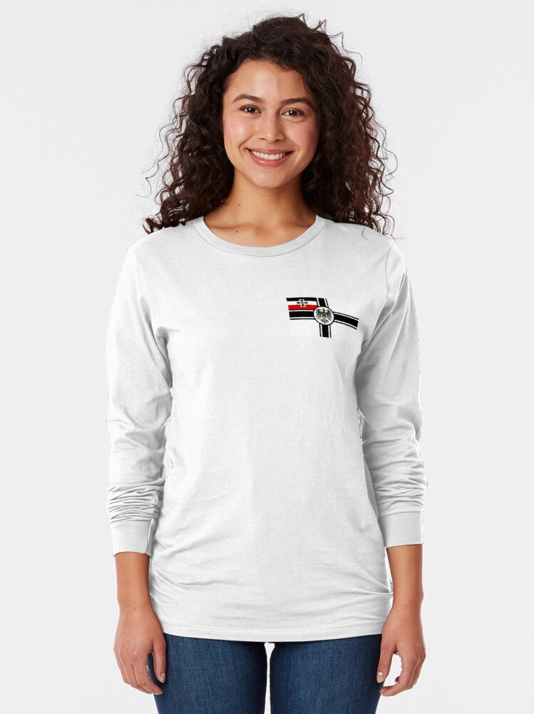 Alternate view of German Armed Forces WWI Flag. Long Sleeve T-Shirt