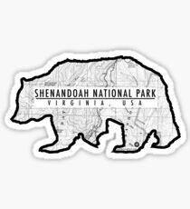 Shenandoah Topographic Bear Sticker
