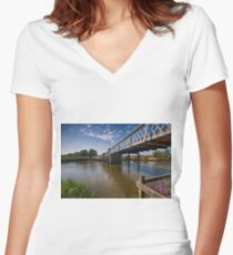 Greatham Bridge Women's Fitted V-Neck T-Shirt