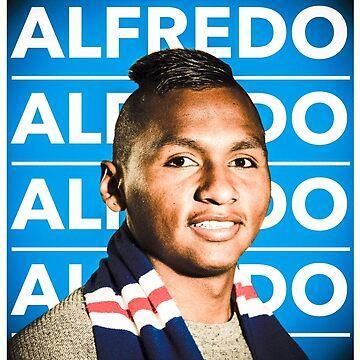 Glasgow Rangers Alfredo Morelos by trueblueapparel