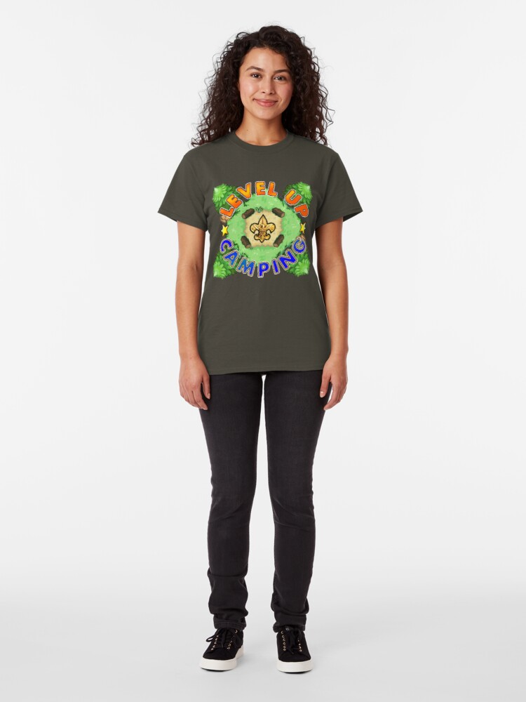 Alternate view of Level Up Camping Classic T-Shirt
