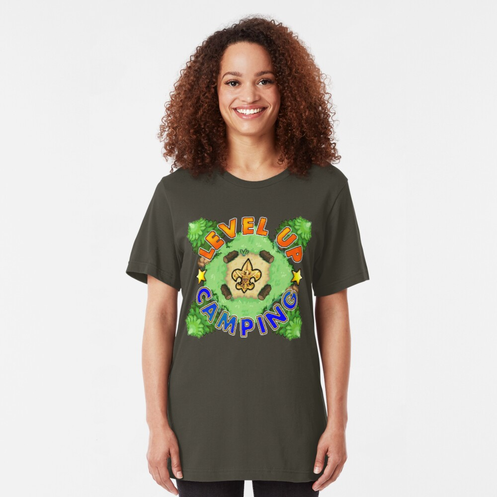 Level Up Camping Slim Fit T-Shirt