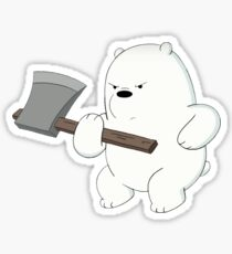 Ice Bear Lifts Sticker