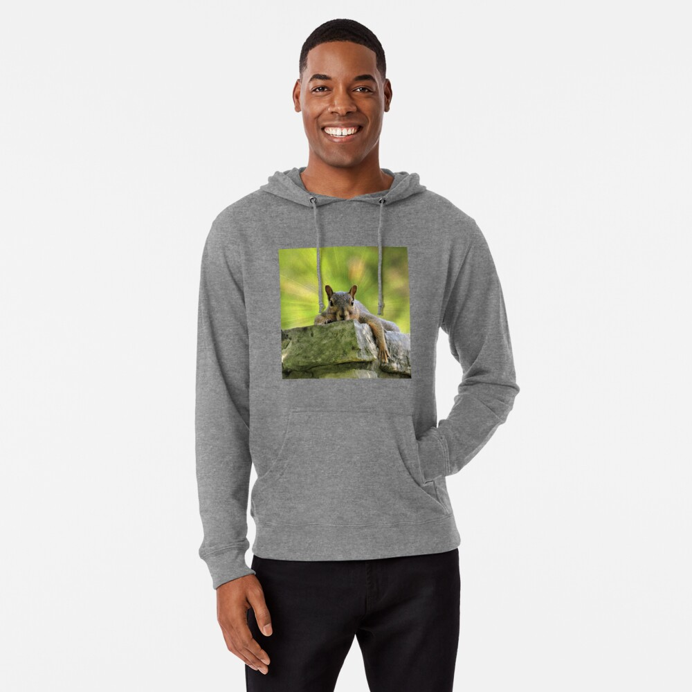 Relaxed Squirrel Lightweight Hoodie