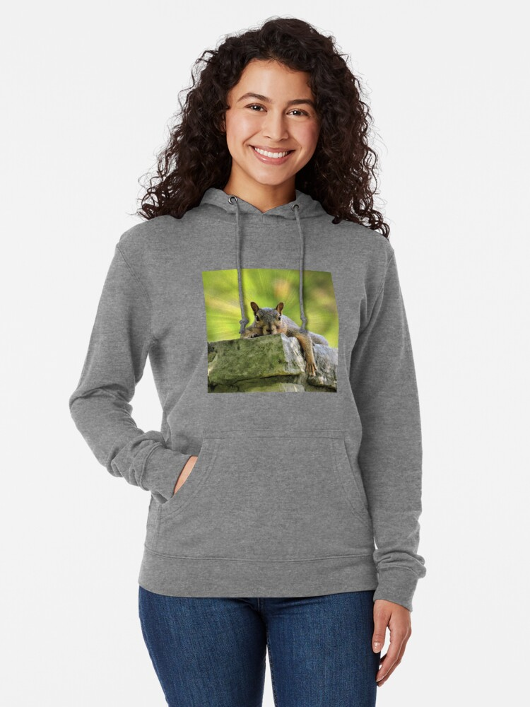 Alternate view of Relaxed Squirrel Lightweight Hoodie