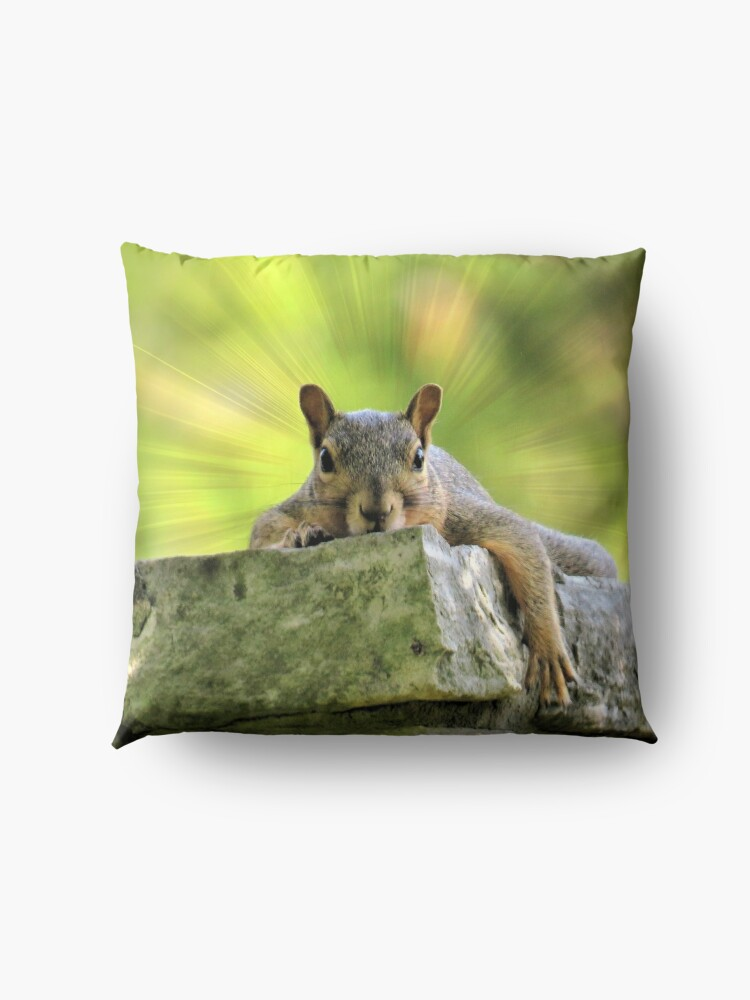 Alternate view of Relaxed Squirrel Floor Pillow