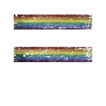 Gay rights equality sign by jhussar