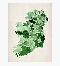 Ireland Watercolour Map Photographic Print