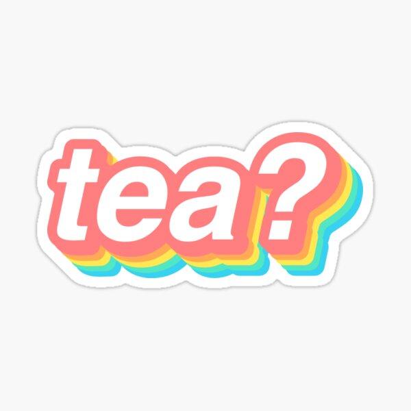 tea? (pastel) Sticker