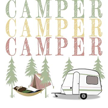 Retro Camper wilderness design by jhussar