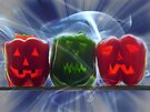 Jack O Lantern Bell Peppers by FrankieCat