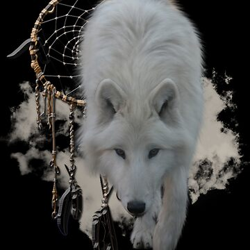 Shaman White Wolf by LuciaS