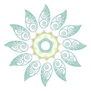 Natural leaf Mandala by amelislam