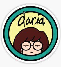Daria (yellow background) Sticker
