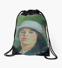 Grandmother in pastels Drawstring Bag