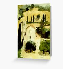 lusignano d'albenga Greeting Card