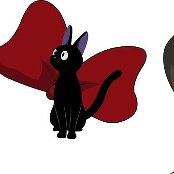 Three Black Cats - Morgana, Jiji, Dusty by krispies69