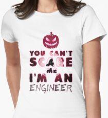 Ingenieur Kürbis Halloween Geschenk Geschenkidee Tailliertes T-Shirt für Frauen