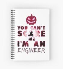 Ingenieur Kürbis Halloween Geschenk Geschenkidee Spiralblock