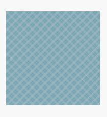 Christmas Icy Blue Velvet Diagonal Tartan Check Plaid Photographic Print