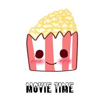 Kawaii Popcorn by mikistarlight