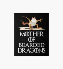 Lámina rígida Madre de la camisa barbudo de los dragones - camiseta divertida del lagarto