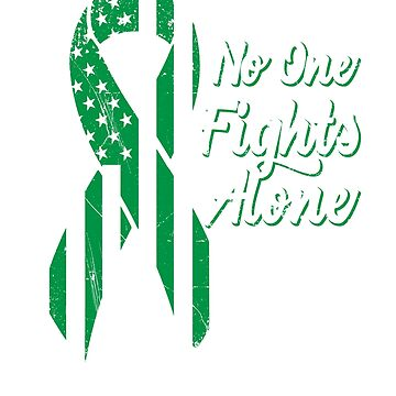 Liver Cancer Awareness - Patriotic US American Flag - No One Fights Alone by SuckerHug
