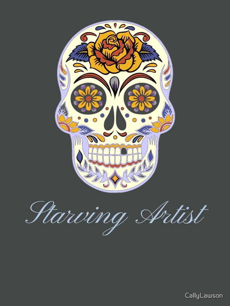 Starving Artist Decorative Skull Design by CallyLawson