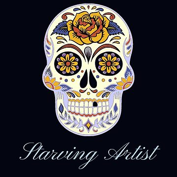 Starving Artist Decorative Skull Design by CallyLawson