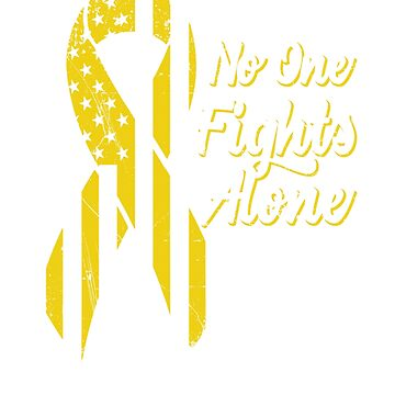 Sarcoma Bone Cancer Awareness - Patriotic US American Flag - No One Fights Alone by SuckerHug