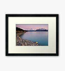 Mt Cook, Sunrise. Framed Print
