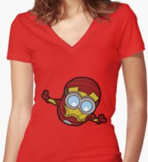 Minions Assemble - Iron Min Women's Fitted V-Neck T-Shirt