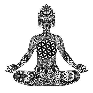 Meditando Mandala Buddha de NicoleHarvey