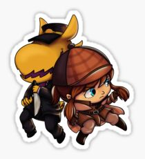 A Hat in Time Hat Kid + Conductor Sticker