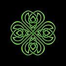 Irish Shamrock - Green Celtic Knotwork by Brandy Sinclair