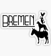 Bremen Town Musicians Sticker