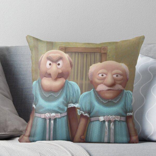 Muppet Maniac - Statler & Waldorf as the Grady Twins Throw Pillow