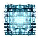 Indigo Blue Grid by Liz Plummer