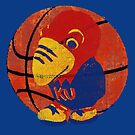 Old Time KU Jayhawk Basketball by Ginny Luttrell