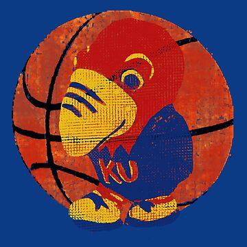 Old Time KU Jayhawk Basketball by ginnyl52
