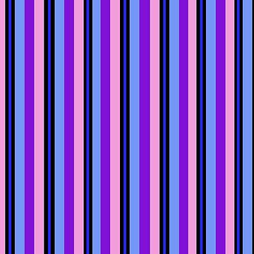 Purple Blue and Pink Stripes by Greenbaby