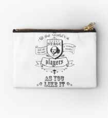 As You Like It - All The World's A Stage Zipper Pouch