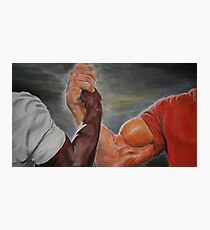 Epic handshake Photographic Print