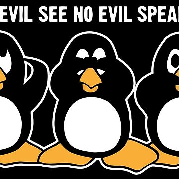 Heart No Evil Penguins  by ironydesigns