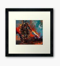man of iron Framed Print
